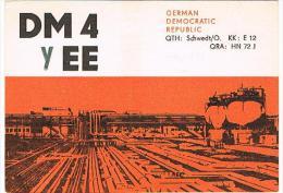QSL CARD - GERMANIA EST (EAST GERMANY) DDR -1972 SCHWEDT, CLUBSTATION  ERDOLVERARBEITUNGSWERK    - RIF. 44 - Radio Amateur
