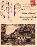 15.4.1933, Y&T No. 285 Sur Carte Postale Strasbourg, Voir Scan,  Lot 40113 - France
