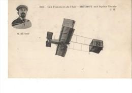 AVIATEUR-- Les Pionniers De L'air-METROT Sur Biplan Voisin--voir 2 Scans - Aviadores