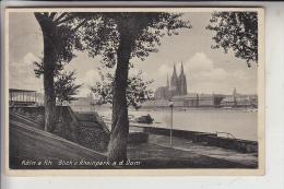 5000 KÖLN - DEUTZ, Rheinpark, Blick Auf Den Dom, 30er Jahre - Koeln