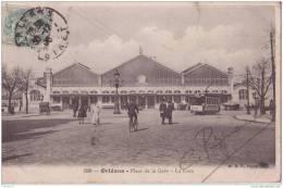 45 ORLEANS PLACE DE LA GARE LA GARE.AVEC TRAMWAY - Orleans
