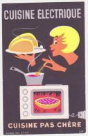 """Buvard Ancien  """"Cuisine Electrique""""  Cuisine Pas Chère - Elettricità & Gas"""