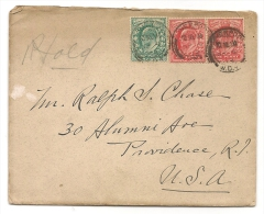 UK - 1903 COVER From LIVERPOOL From The RAILWAY COMPANY To PROVIDENCE (reception At Back) - Brieven En Documenten