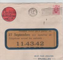 00402a Bruxelles - Brussel 1930 Imprimé Electricité Domestique S.C. Verso Matériel à Usage Domestique - Electricité