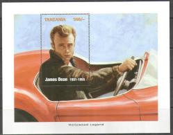 2545 Cinema Movie Cars James Dean 1996 Tansania Very Big S/s MNH **
