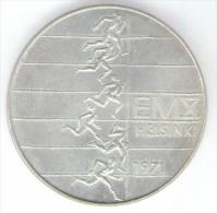 FINLANDIA 10 MARKKAA 1971 AG SILVER - Finlandia
