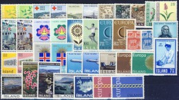 ##G649. Iceland 1962-71. Lot. MNH(**) - Islande
