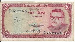BANGLADESH 5 TAKA ND1973 VG+ P 13 - Bangladesh