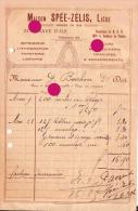 LIEGE 1906 VINAVE D'ILE / MAISON SPEE ZELIS IMPRIMERIE LITHOGRAPHIE - Printing & Stationeries