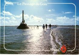 85---ILE DE NOIRMOUTIER---le Passage Du Gois Au Soleil Couchant---voir 2 Scans - Ile De Noirmoutier
