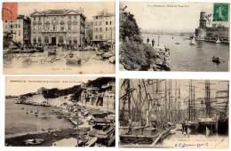 4 Cpa Marseille : Vieux Port, Mairie, Anse Du Prophète - Vieux Port, Saint Victor, Le Panier
