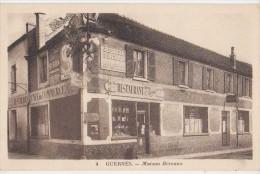 CPA 78 GUERNES Commerce Café Du Commerce Restaurant Maison BEREAUX Publicité Société Générale Vin BYRRH - France