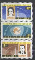 2657 Space Tereshkova Raumfahrt 1964 Vietnam 3v Set MNH ** 7ME - Space