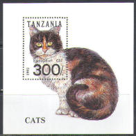 2668 Fauna Animals Domestic Cats 1992 Tansania S/s MNH ** - Domestic Cats