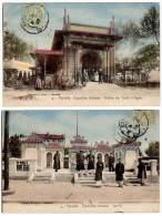 2 Cpa Marseille : Exposition Coloniale, Asie, Van-Ki, Pavillon Des Forêts D'Algérie - Expositions Coloniales 1906 - 1922