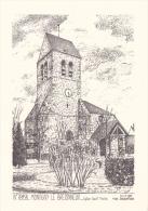 CPSM 10X15 De MONTIGNY Le BRETONNEUX  (78) -  Eglise SAINT MARTIN - Yves DUCOURTIOUX N° 78158 - Montigny Le Bretonneux