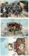 3 Cpa Nice, Bataille De Fleurs, Carnaval 1909, ... - Carnaval