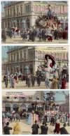 3 Cpa Nice Carnaval 1907, SM Carnaval, ... - Carnaval