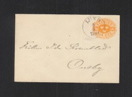 Sweden Stationery  Cover 1893 Lund - Postal Stationery