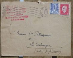 Enveloppe Affranchie Pour La Cerlangue Oblitération Le Havre Seine-Inférieure - Marcophilie (Lettres)