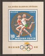 Hongrie Hungary Magyar Ungarn  **  N° YT BF  71 JO  Mexico 68 Course Féminine - Zomer 1968: Mexico-City