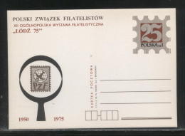 POLAND 1975 12TH NATIONAL PHILATELIC EXPO 25 YEARS PZF POLISH PHILATELIC SOCIETY MINT TYPE 2 - Postwaardestukken