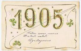 EMBOSSED POSTCARD - YEAR 1905 & CLOVER - 19 - Spain