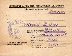 FRANCE LETTRE PRISONNIER DE GUERRE DEPOT ST ETIENNE 1946 - Guerra Del 1939-45