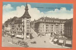 FEL566, Lausanne , Le Quartier Chauderon, Tram, Tramway, Calèche, 862, Circulée 1923 - VD Vaud