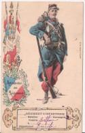 MILITAIRE  Et DRAPEAUX.   Régiment D'Infanterie 61.   TBE. - Reggimenti