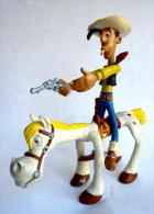 FIGURINES LUCKY LUKE & JOLLY JUMPER - COMIC SPAIN 1985 - Flexible Bendem - Figurines