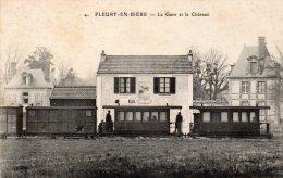 77 Fleury En Biere, La Gare Et Le Chateau - Frankrijk