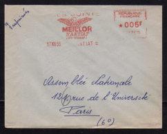 """87 - HAUTE VIENNE / E.M.A. """" Les Joints MEILLOR - NANTIAT """" / Enveloppe 1956 - Marcophilie (Lettres)"""