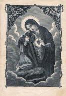 Heilige Bilder HOLLY CARD SANTINI ,RELIGION,Gebet Zu Maria,PRAG BEI SIGMUND RUDL - 1875 - Andachtsbilder
