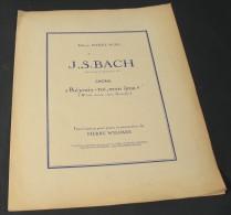 """Partition Du Choral De La Cantate N°147  """"Réjouis-toi, Mon âme (Werde Minter, Mein Gemuthe) """" /  J.S. BACH - Corales"""