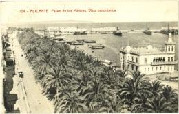 Alicante - Paseo De Los Mártines. Vista Panoramica - Alicante