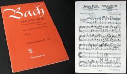 """Partition De La """"CANTATE  N°131 (Aus Der Tiefe Rufe Ich, Herr, Zu Dir )"""" De J. S. BACH - Choral"""