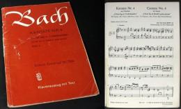 """Partition  De La CANTATE  N°4 (BWV4) """" Christ Lag In Todesbanden  """"  De J. S. BACH - Chant Chorale"""