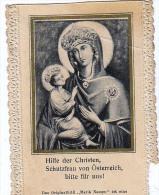 Heilige Bilder HOLLY CARD SANTINI ,RELIGION,HILFE DER CHRISTEN SCHUTZFRAU VON ÖSTERREICH BITTE FÜR UNS!  MARIA NAMEN , - Andachtsbilder