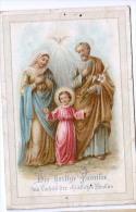 Heilige Bilder HOLLY CARD SANTINI ,RELIGION,DIR HEILIGE FAMILIE - Andachtsbilder