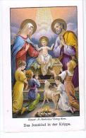 Heilige Bilder HOLLY CARD SANTINI ,RELIGION,DAS JESUKIND IN DER KRIPPE - Andachtsbilder