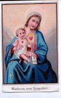 Heilige Bilder HOLLY CARD SANTINI ,RELIGION,MADONNA VOM SCAPULIER - Andachtsbilder