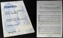 """SINGT, O SINGT Dem HERRN""  De Henry PURCELL - Music & Instruments"