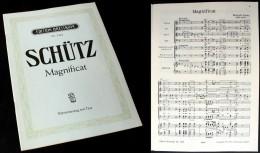 Partition Du « MAGNIFICAT » De Heinrich SCHÜTZ - Music & Instruments