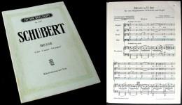 Partition De La «Messe En Sol (D167)» De Franz Schubert - Corales