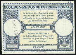 FRANCE Postal RESPONSE /Reponse COUPON International 0.70 Fr. BEAUVAIS R.P. OISE - Sin Clasificación