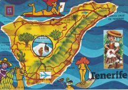 España--Tenerife--1984--Mapa De La Isla--Fechador-Santa Cruz De Tenerife--a, Ceret, Francia - Mapas
