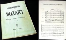 """Partition Des  """"Vèpres Solennelles (K339)""""  De MOZART - Chant Chorale"""