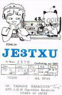 QSL CARD - GIAPPONE (JAPAN)  - 1979 IBARAKI , GIRL WITH CAT  - RIF. 58 - Radio Amatoriale