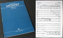 """Partition De La  """"Messe En Do  (K427)""""  De W.A. MOZART - Chant Chorale"""
